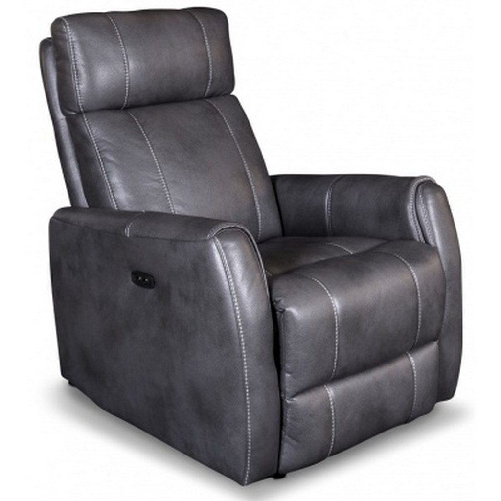 Leather Motorized Recliner Chairs Classic Traditional