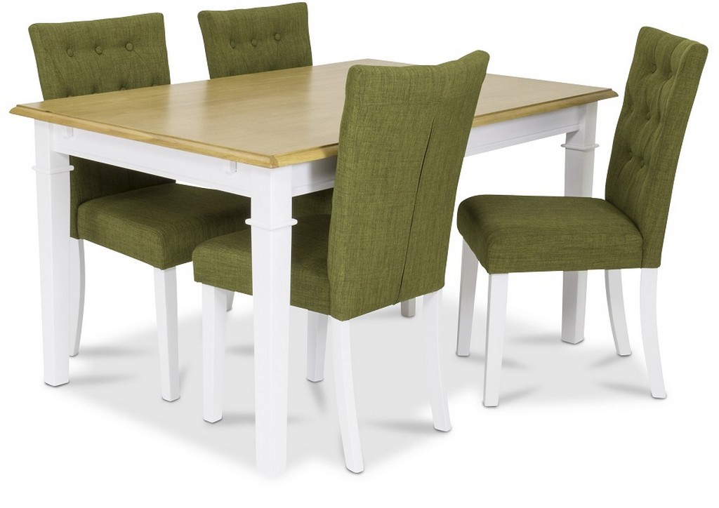 900100 Ramnäs table 140x95 oak + 900174 Crocket chair Green